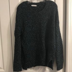 Vince size L blue green black color blend sweater